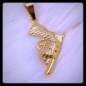 Other - Hip Hop Gold Plated Gun Pendant
